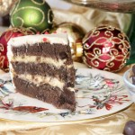 Brandy Spiked Chocolate Eggnog Cake