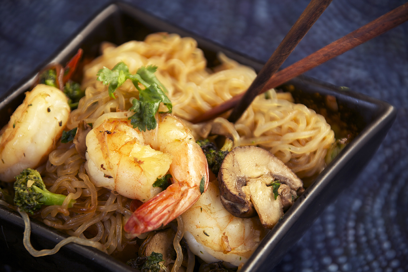 Low Carb Shrimp And Angel Hair Pasta Asian Style The Pescetarian