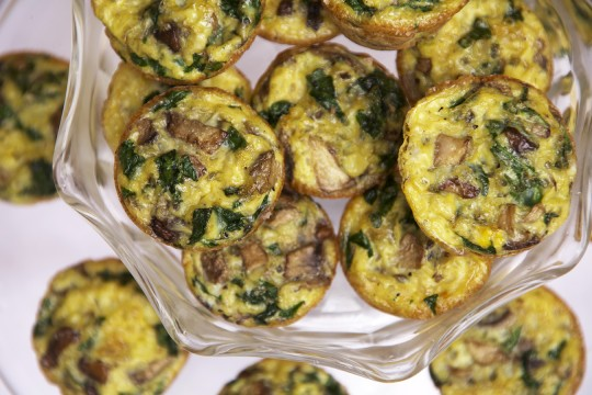 Spinach and Mushroom Crustless Mini Quiches | The Pescetarian and the ...