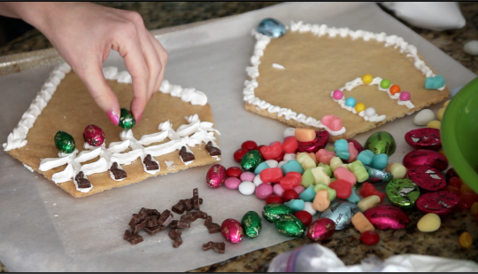 easter, craft, idea, houses, sugar cookie, candy