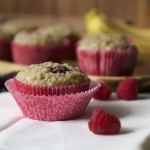 Double Berry Banana Cream Muffins