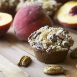 Peach Maple Pecan Muffins