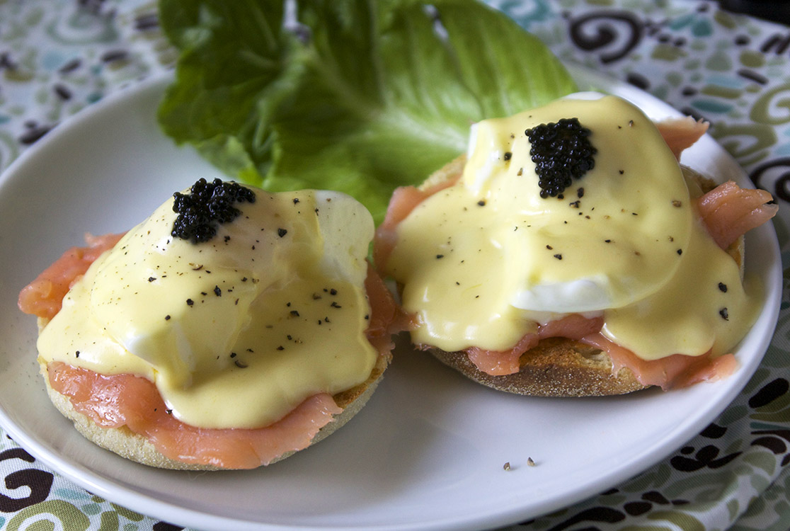 Salmon Eggs Benedict The Pescetarian And The Pig