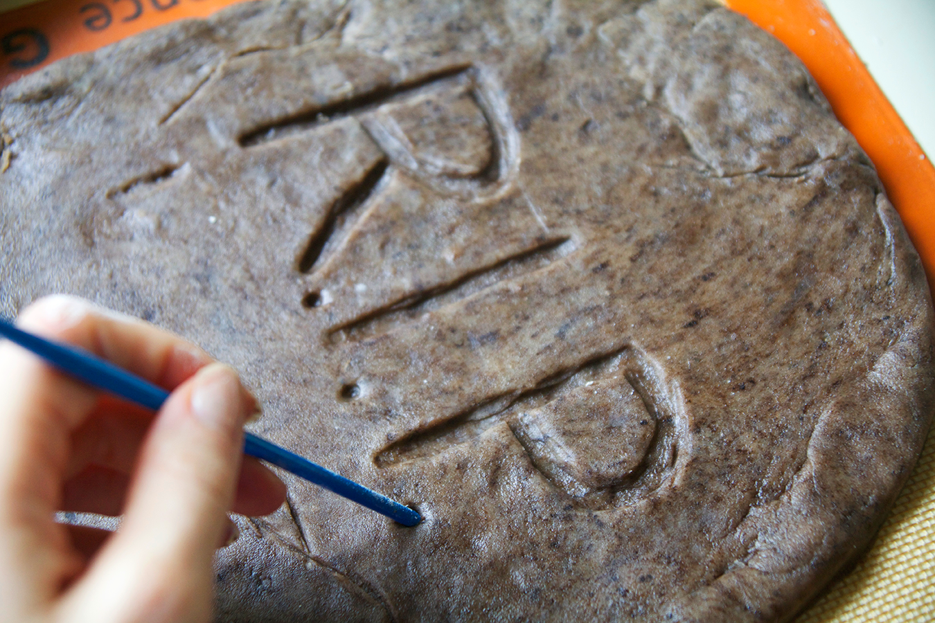 Giant Sugar Cookie Tombstone