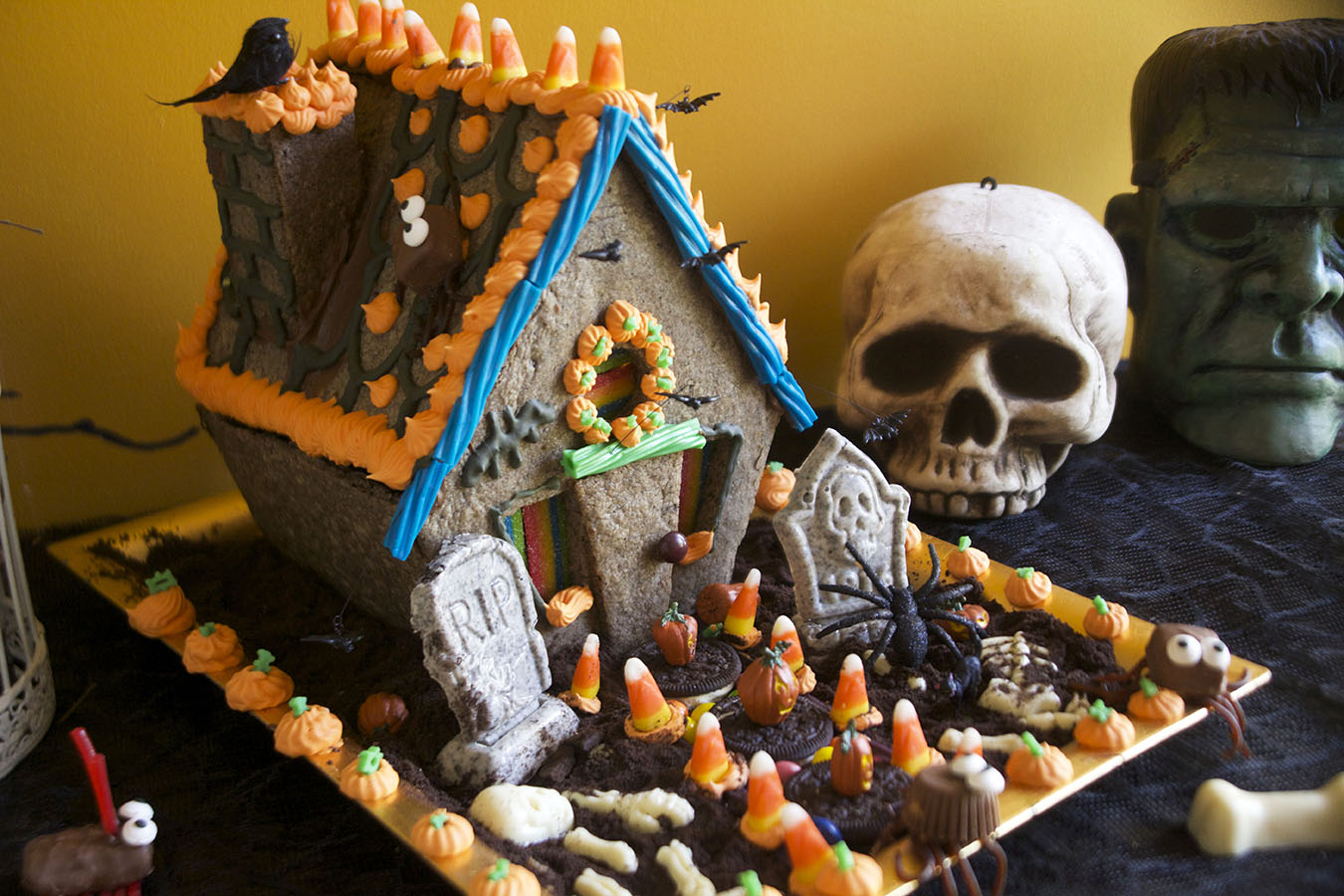 Image result for halloween gingerbread house